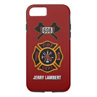 Fire Department Badge Name Template iPhone 8/7 Case