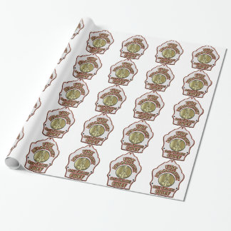 Fire Department Battalion Chief Shield Design Wrapping Paper