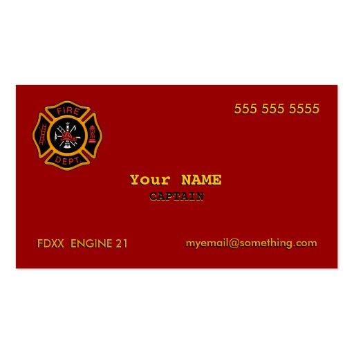Fire Department Business Card Templates