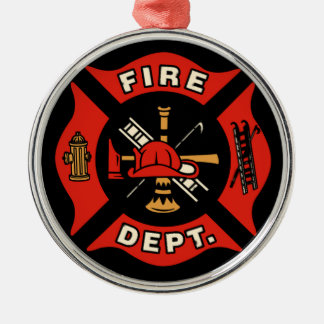 Fire Department Christmas Logo Ornament