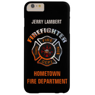 Fire Department Chrome Name Template Barely There iPhone 6 Plus Case