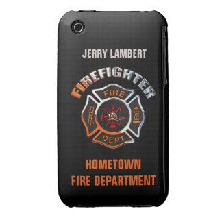 Fire Department Chrome Name Template iPhone 3 Case-Mate Case