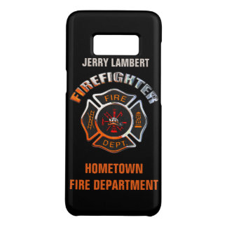 Fire Department Chrome Name Template Case-Mate Samsung Galaxy S8 Case