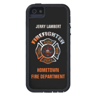 Fire Department Chrome Name Template iPhone 5 Case