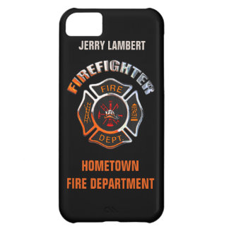 Fire Department Chrome Name Template iPhone 5C Case
