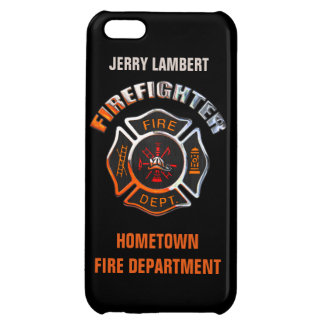 Fire Department Chrome Name Template iPhone 5C Covers