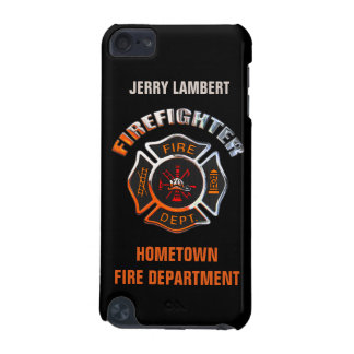 Fire Department Chrome Name Template iPod Touch (5th Generation) Cover