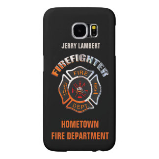 Fire Department Chrome Name Template Samsung Galaxy S6 Cases