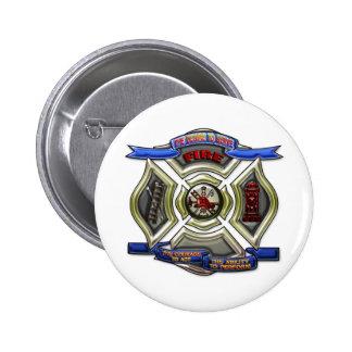 Fire Department Crest 6 Cm Round Badge