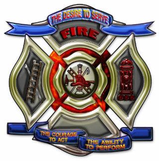 Fire Department Crest Standing Photo Sculpture
