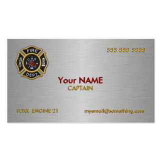 Fire Department Deluxe Business Card Template