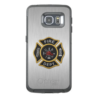Fire Department Emblem Deluxe OtterBox Samsung Galaxy S6 Edge Case