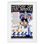 Fire Department Engine NYC 1936 WPA Greeting Cards