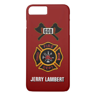 Fire Department Firefighter Badge Name Template iPhone 7 Plus Case