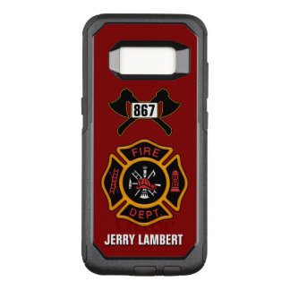 Fire Department Firefighter Badge Name Template OtterBox Commuter Samsung Galaxy S8 Case