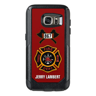 Fire Department Firefighter Badge Name Template OtterBox Samsung Galaxy S7 Case
