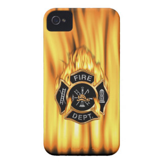 Fire Department Flames iPhone 4 Case-Mate Case