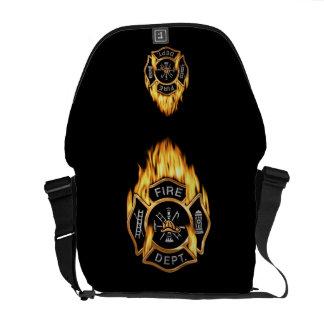 Fire Department Flames Commuter Bags