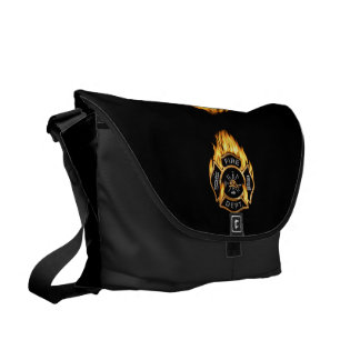 Fire Department Flames Courier Bag
