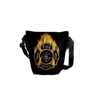 Fire Department Flames Messenger Bags