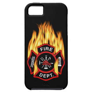 Fire Department Flaming Badge iPhone 5 Cases