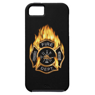 Fire Department Flaming Gold Badge iPhone 5 Covers