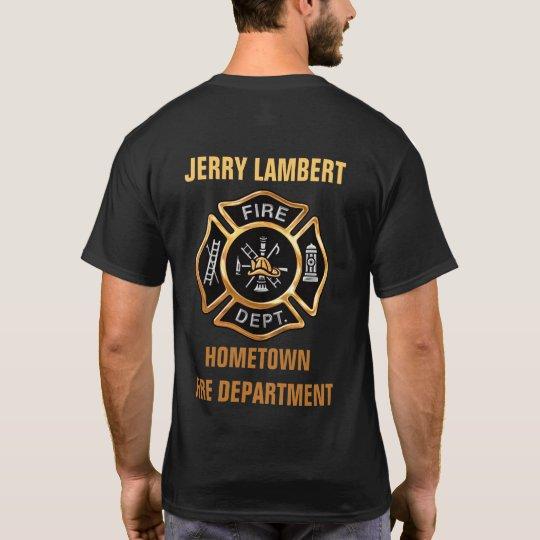 Fire Department Gold Badge Custom T-Shirt