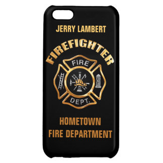 Fire Department Gold Badge Name Template iPhone 5C Covers