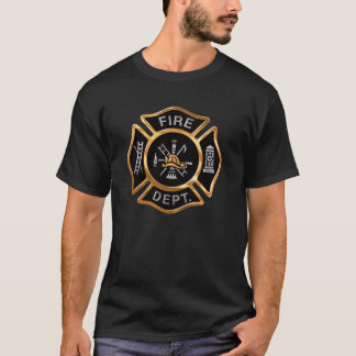 Fire Department Gold  Badge T-Shirt