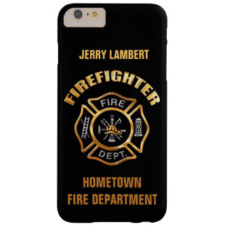 Fire Department Gold Name Template Barely There iPhone 6 Plus Case