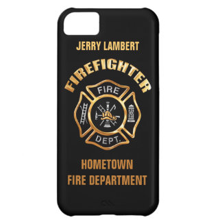 Fire Department Gold Name Template iPhone 5C Case