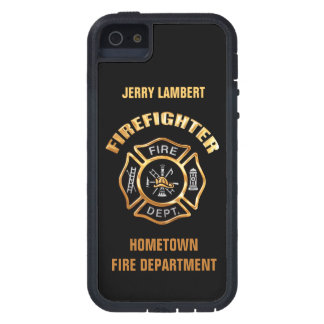 Fire Department Gold Name Template iPhone 5 Cover