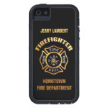 Fire Department Gold Name Template iPhone 5 Covers