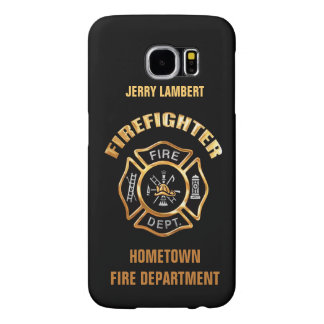 Fire Department Gold Name Template Samsung Galaxy S6 Cases