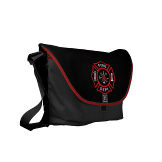 Fire Department Red Commuter Bags