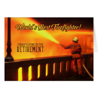 Fire Department Retirement of Fireman Card