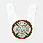 Fire Department Round Badge Bib