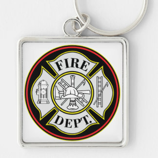 Fire Department Round Badge Key Ring