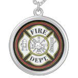 Fire Department Round Badge Pendants