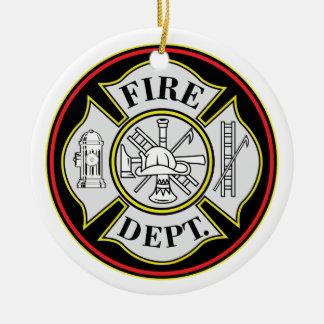 Fire Department Round Badge Round Ceramic Decoration