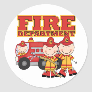 Fire Department Tshirts and Gifts Round Sticker
