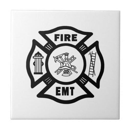 Fire Dept EMT Ceramic Tiles