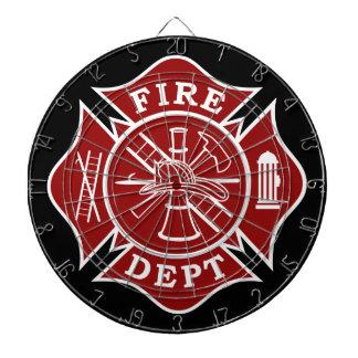 Fire Dept / Firefighter Metal Cage Dartboard