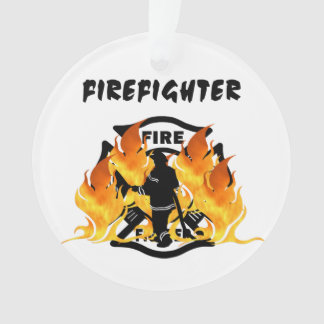 Fire Dept Flames Ornament