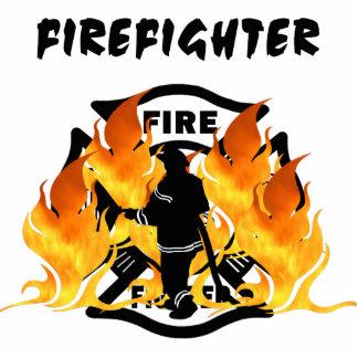 Fire Dept Flames Photo Sculptures
