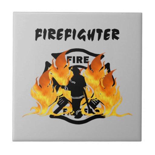 Fire Dept Flames Tile