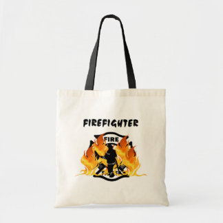 Fire Dept Flames Budget Tote Bag