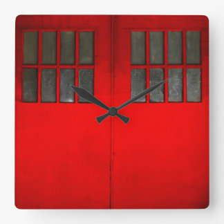 Fire Dept Gate Square Wall Clock