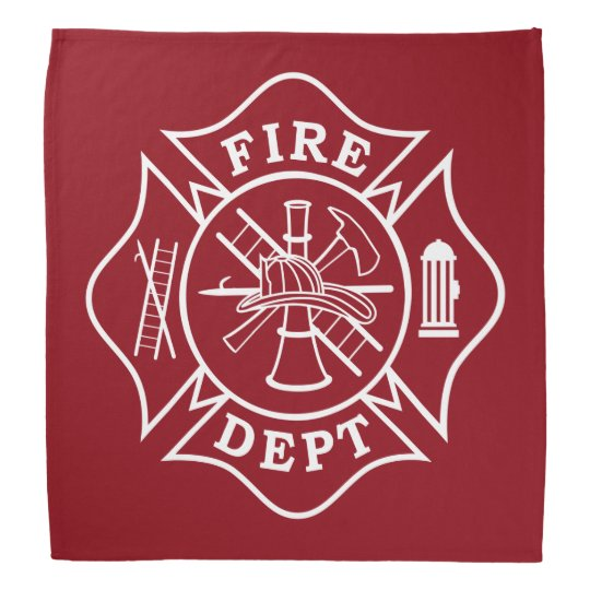 Fire Dept Maltese Cross Bandanna