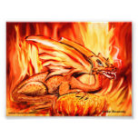 Fire dragon and egg photo